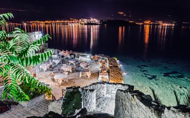 Restaurant on coastline