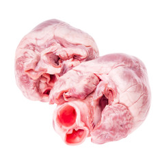Pig heart isolated with clipping path.