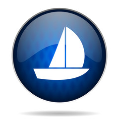 boat internet blue icon