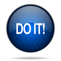 do it internet blue icon