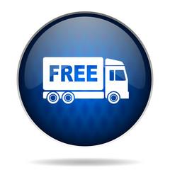 free transport internet blue icon