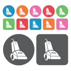Vacuum icon. Electronic devices icons set. Round and rectangle c