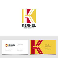 Corporate Logo K Letter company vector design. Logotype