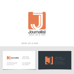 Corporate Logo J Letter company vector design. Logotype