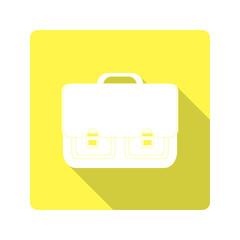 flat design. icon classic school bag