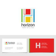 Corporate Logo H Letter company vector design. Logotype