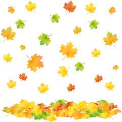 bunte Herbstblätter fallen