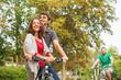 friends riding a bike