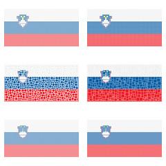 Mosaic Slovenia flag set