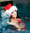 woman in the swimming pool