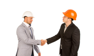 Young Client Shaking Hand with Engineer