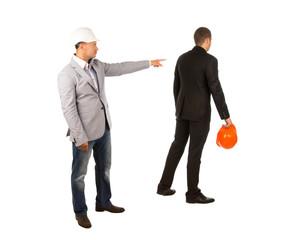 Head Engineer Pointing His Subordinate Engineer