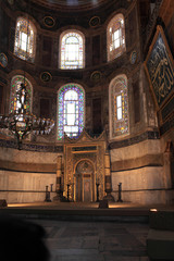 Details of mihrab in Hagia Sophia