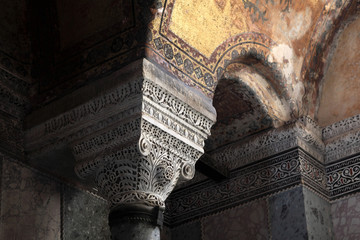 Fragment of column of Hagia Sophia