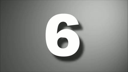 Countdown Tropfeneffekt