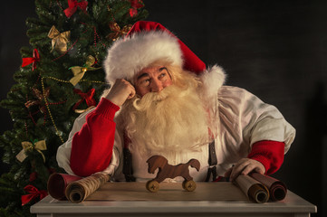 Santa Claus working