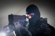 Anti terrorist unit policeman/soldier during the night mission