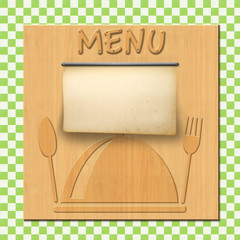 Holztafel Menu Tischdecke G