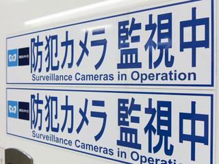 防犯カメラ作動中の看板