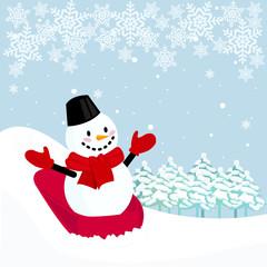 スノーマン クリスマス イメージ