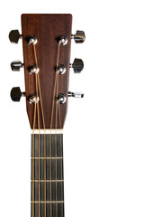 Headstock of the electric guitar