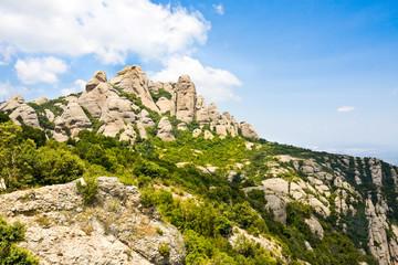Moutains in monastery Montserrat,Spain