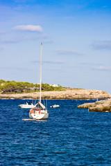 Yacht in Calo de Sa Torre, Mallorca, Spain