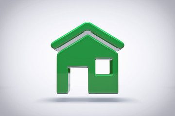 Green Icon House Background or Wallpaper