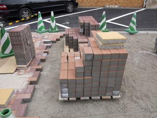 歩道の舗装工事