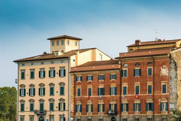 Facciata palazzi signorili, centro storico, Pisa