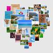 canvas print picture - Bilder als Herz