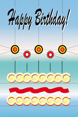 happy birthday con torta