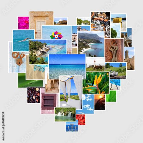 canvas print picture Bilder als Herz