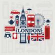 roleta: London vector set