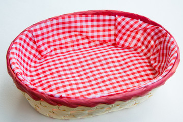 Wicker basket for bread