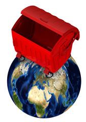 Мусорный контейнер на планете Земля