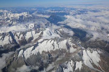 Alpen - Luftaufnahme