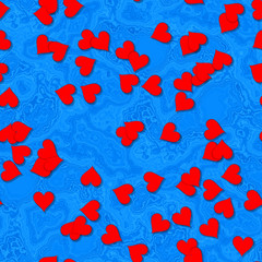 Heart shapes with seamless generated texture background
