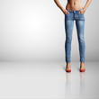 woman with ideal body in skinny jeans