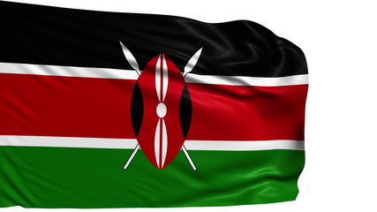 flag of Kenya with fabric structure; looping
