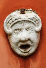 Statua testa Bocca della verità, faccia, marmo