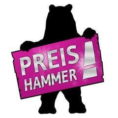 bs36 - BearSign - preis hammer in violett und schwarz - g1759