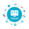 Webinar Illustration. Online Education and Training - 70485894