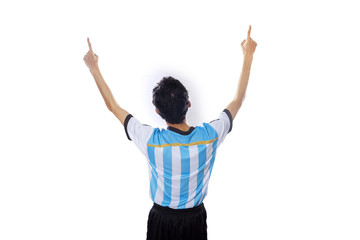Argentine soccer player celebrate victory 1