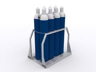 Palette mit Gasflaschen
