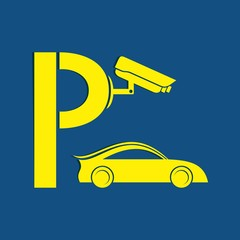 Symbol of guarded parking