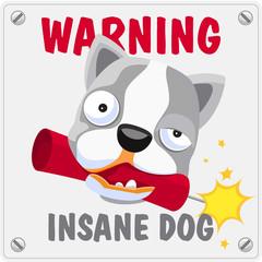 Ostrzeżenie, groźny pies.