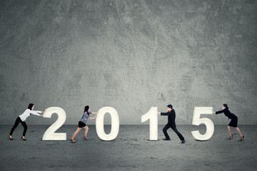 Business team arrange 2015