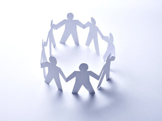 paper people community unity togetherness