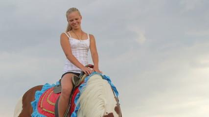 Horseback riding vacations young girl